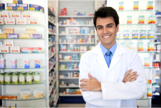 male staff at drugstore